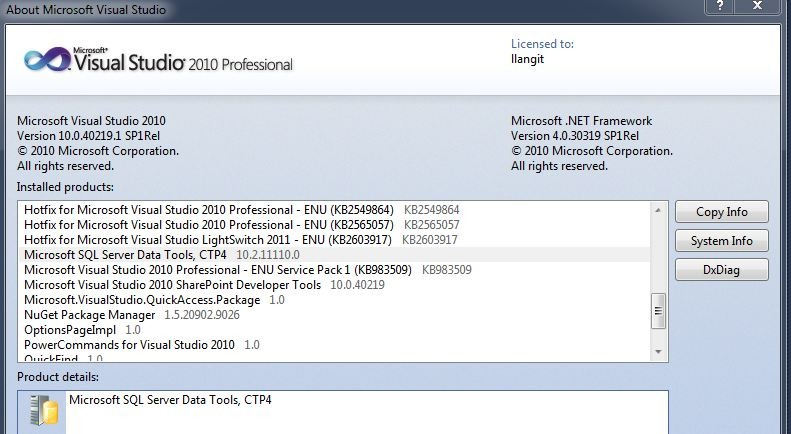 SQL Server 2012–SQL Server Data Tools – lynnlangit