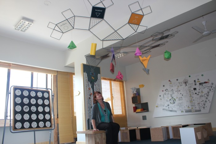 The teaching tree uses 3D space - including the ceiling!