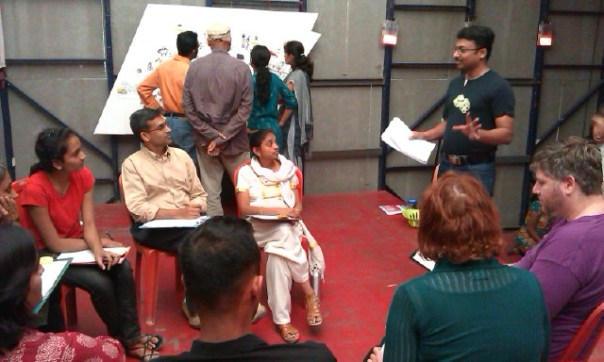 Learning from the BrainStar teachers at the Number Nagar launch event in Bangalore
