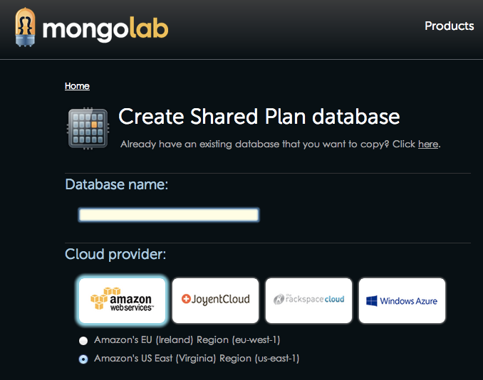 Deploy MongoDB to any of four different clouds