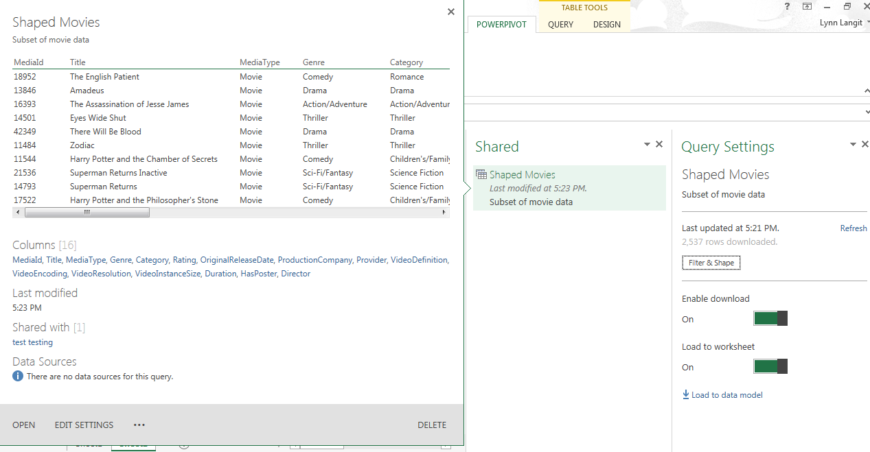 First Look Office 365 Power BI – lynnlangit