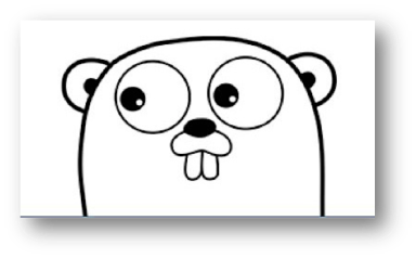 Go language mascot - the Gopher!
