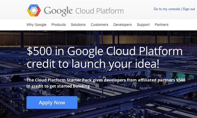 Google Cloud Usage Credit