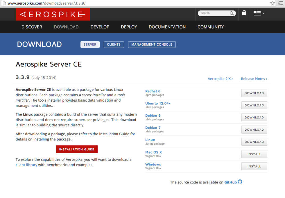 Developing with Aerospike