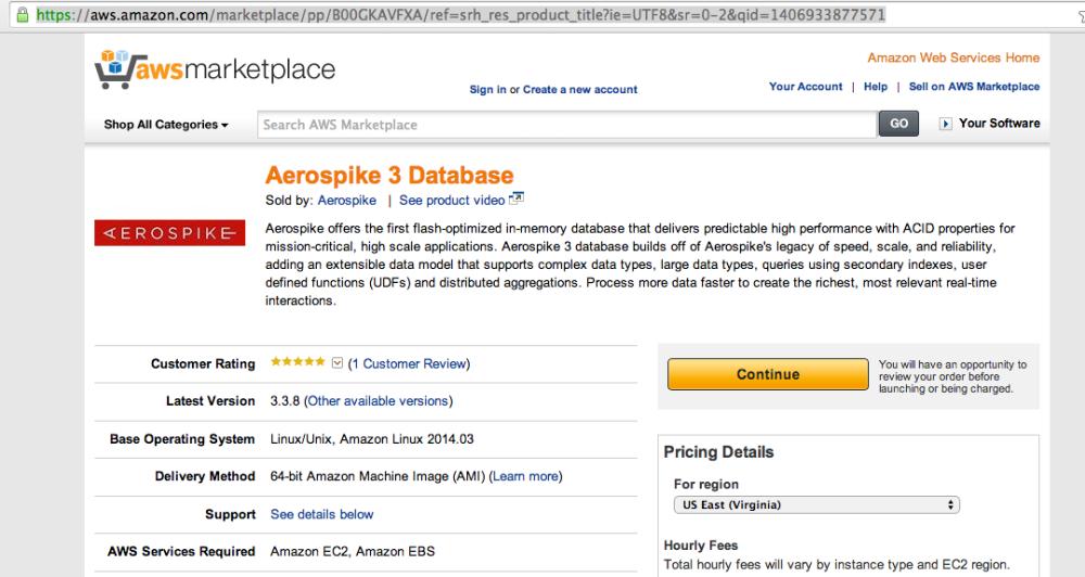 Aerospike on AWS