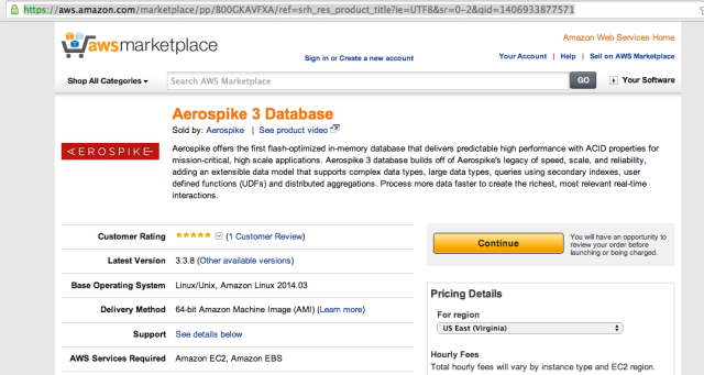 Aerospike on AWS