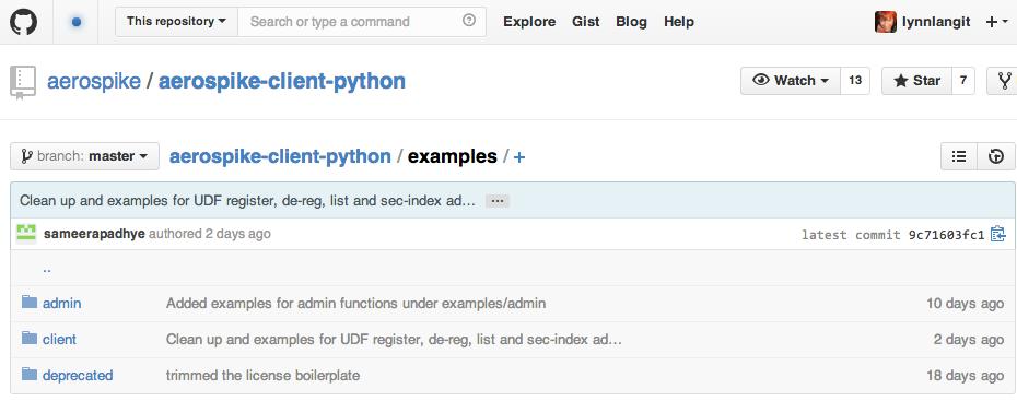 More Python samples